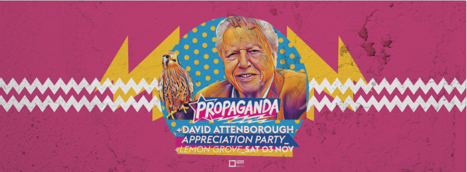 Propaganda Exeter – David Attenborough Appreciation Party!