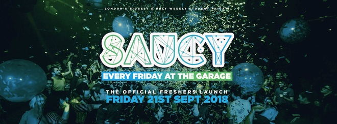 Saucy Every Friday // The Freshers Launch!