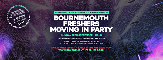 ✅ FRESHERS MOVING IN PARTY at HALO ✅ – BOURNEMOUTH