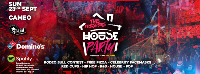 THE FRESHERS HOUSE PARTY at CAMEO // BOURNEMOUTH