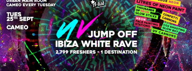THE UV JUMP OFF – LASER NEON RAVE at CAMEO // BOURNEMOUTH
