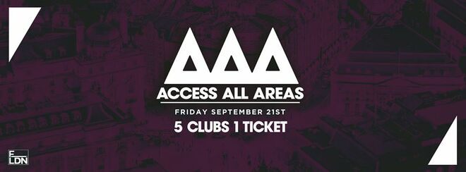 Access All Areas Club Crawl- The Freshers Launch | 1 Ticket 5 Clubs