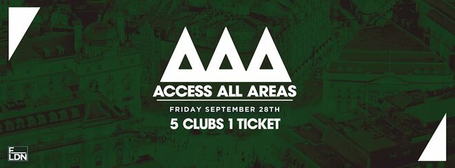 Access All Areas - The Freshers Club Crawl | 1 Ticket 5 Clubs