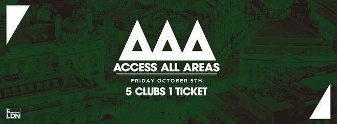 Access All Areas - The Freshers Club Crawl Finale | 1 Ticket 5 Clubs