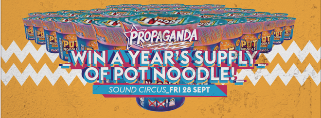 Propaganda Bournemouth – Win a Year's Supply of Pot Noodle!