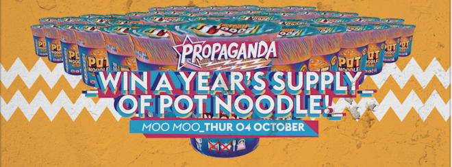 Propaganda Cheltenham – Win a Year's Supply of Pot Noodle!