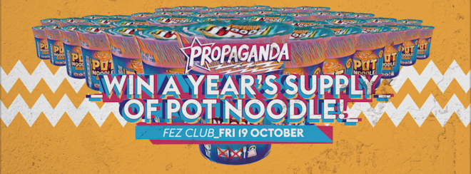 Propaganda Cambridge – Win a Year's Supply of Pot Noodle!
