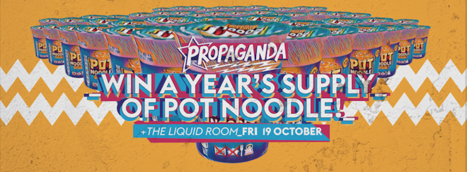 Propaganda Edinburgh – Win a Year's Supply of Pot Noodle!