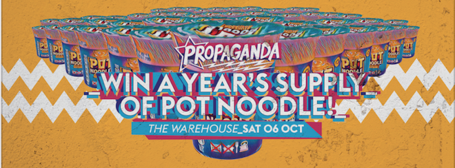 Propaganda Leeds – Win a Year's Supply of Pot Noodle!