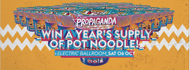 Propaganda London – Win a Year's Supply of Pot Noodle!