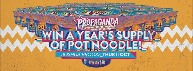 Propaganda Manchester – Win a Year's Supply of Pot Noodle!