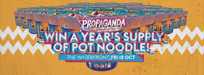 Propaganda Norwich – Win A Year's Supply Of Pot Noodle!