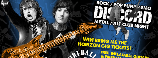 Hot Air Guitar & Inflatables Party at Discord! WIN BMTH Tickets!