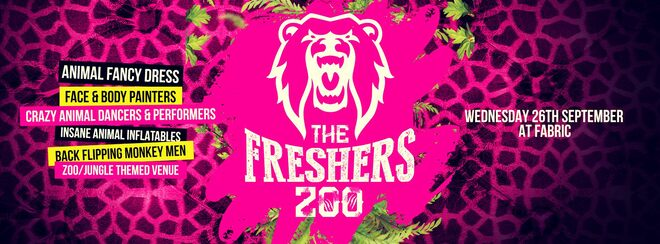 The 2018 Freshers Zoo at FABRIC!
