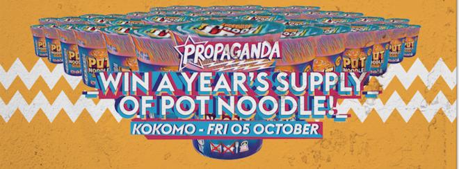 Propaganda Glasgow – Win a Year's Supply of Pot Noodle!