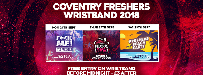 THE COVENTRY FRESHERS WRISTBAND 2018
