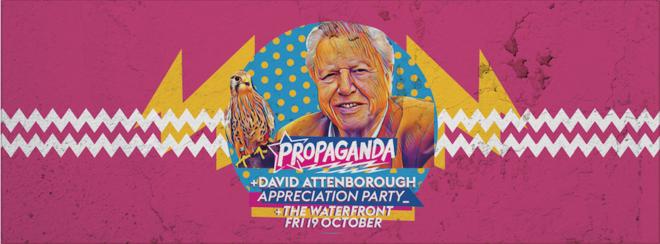 Propaganda Norwich – David  Attenborough Appreciation Party!