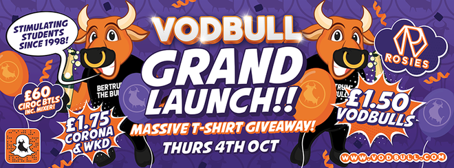 Vodbull Grand Launch!! 4th Oct!! MASSIVE T-SHIRT GIVEAWAY!!