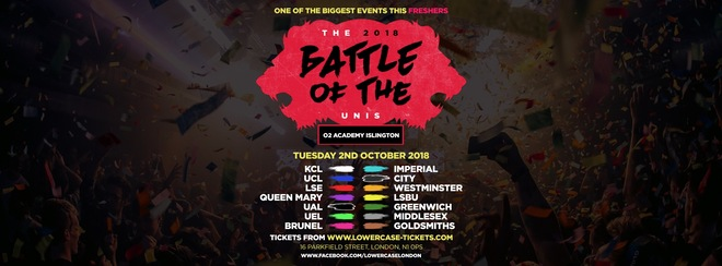 The 2018 London Freshers Battle of The Universities! The Ultimate University Showdown!
