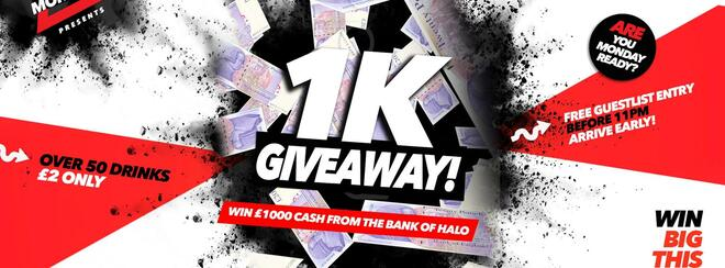 £1K Giveaway 28.01.19 Halo Bournemouth