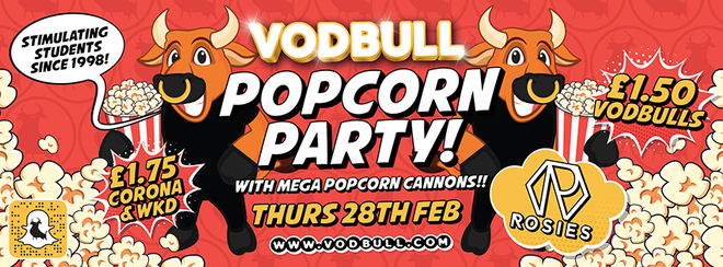 🍿Vodbull POPCORN PARTY!🍿{Early bird & 1st Release SOLD OUT!}