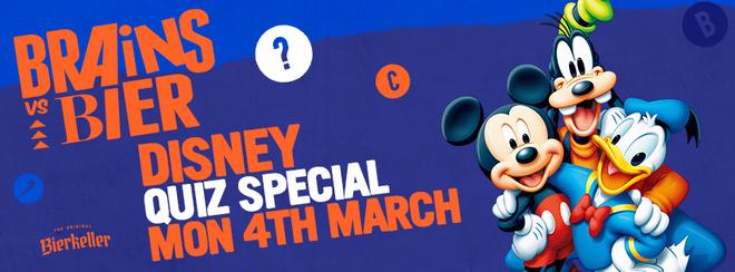 Brains V Bier – Disney Quiz Special