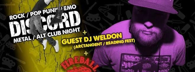 Discord with Guest DJ Weldon (ArcTanGent / Reading Fest.)