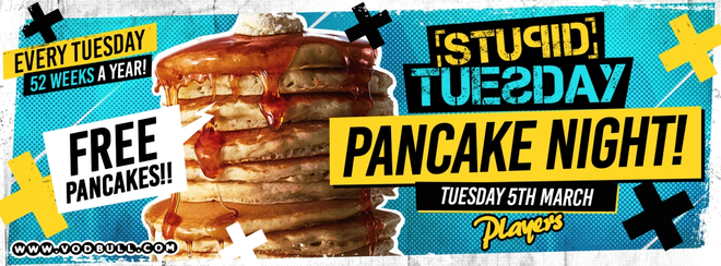 Stuesday 🥞 Pancake Day Party 🥞