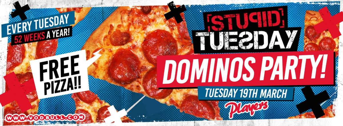 Stuesday 🍕 Domino's Pizza Party 🍕500 FREE PIZZAS 🍕