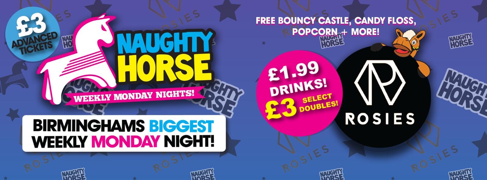NAUGHTY HORSE at ROSIES! Birmingham's Biggest Weekly Monday Night!