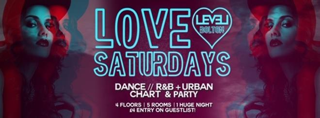Love Saturdays – Pre 12.30am entry ticket