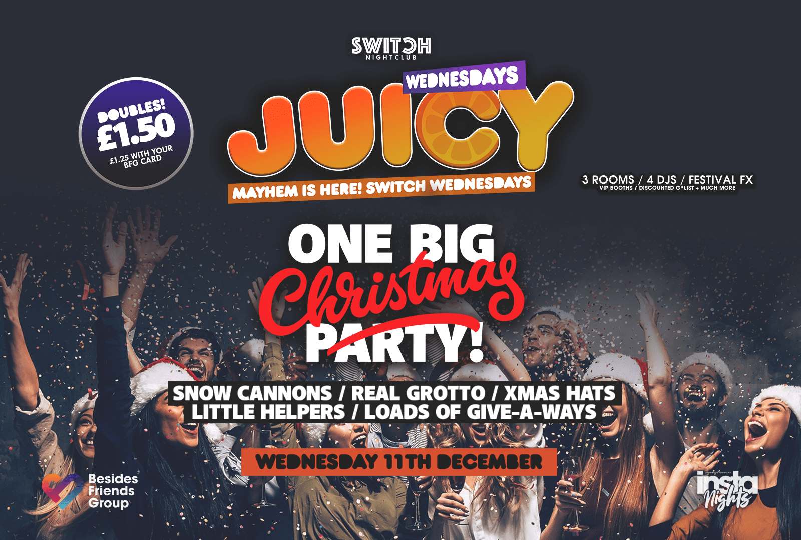 Juicy Wednesdays Presents 1 Big Christmas Party