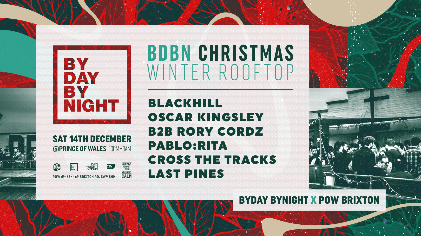 Byday Bynight: Festive Rooftop Party Brixton