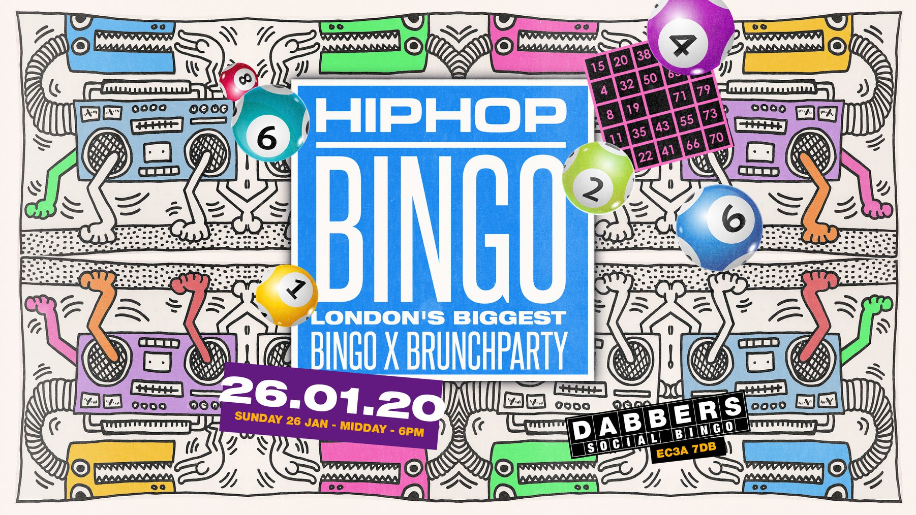 The London HipHop Bingo x Brunch – January | Live at Dabbers 🎉
