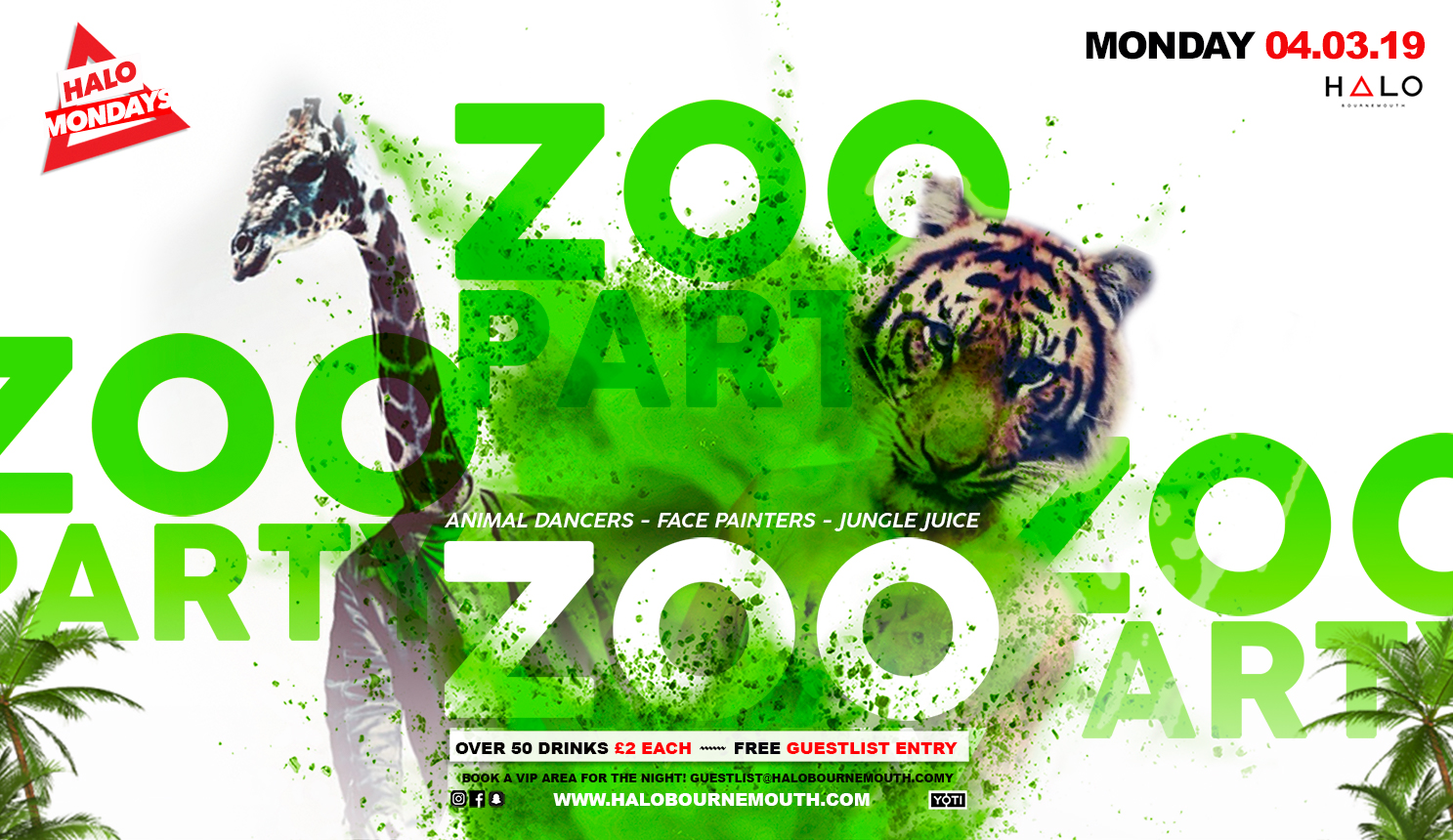 Zoo Party 04.03.19 Halo Bournemouth
