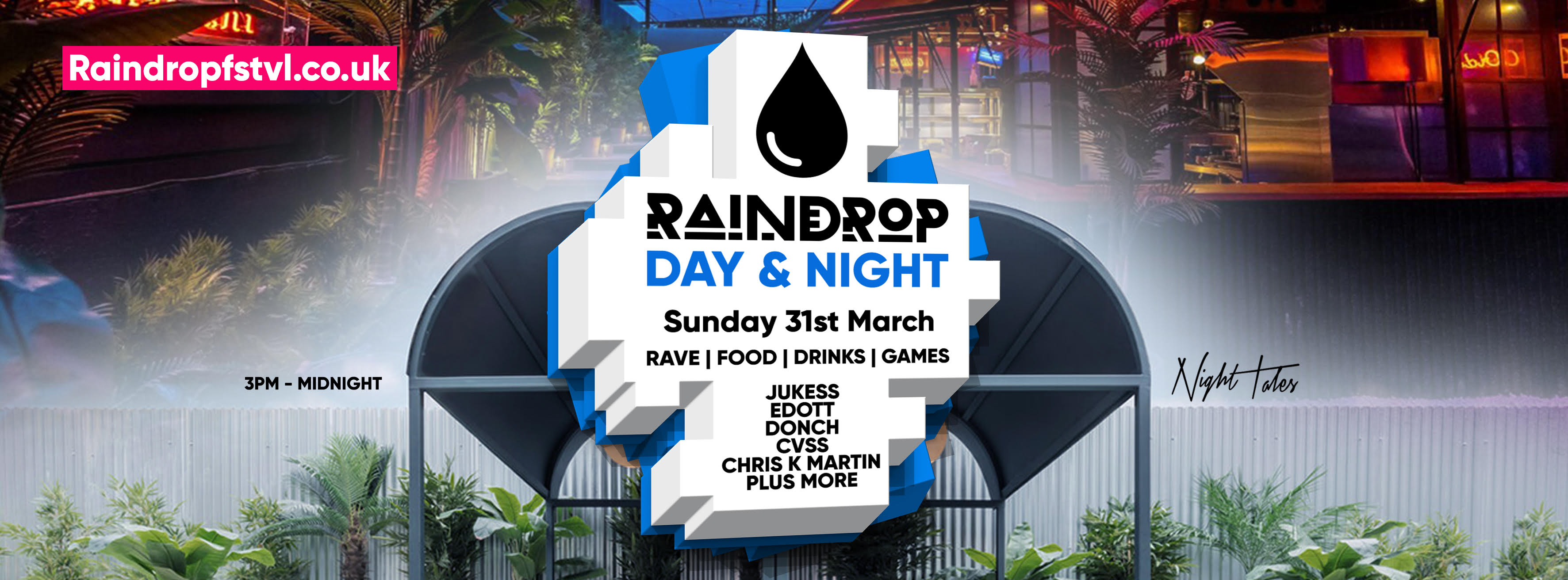 RaindropMiniFest – THIS SUNDAY! – Rave, Music, Drinks, Games: Creams x TR Spice