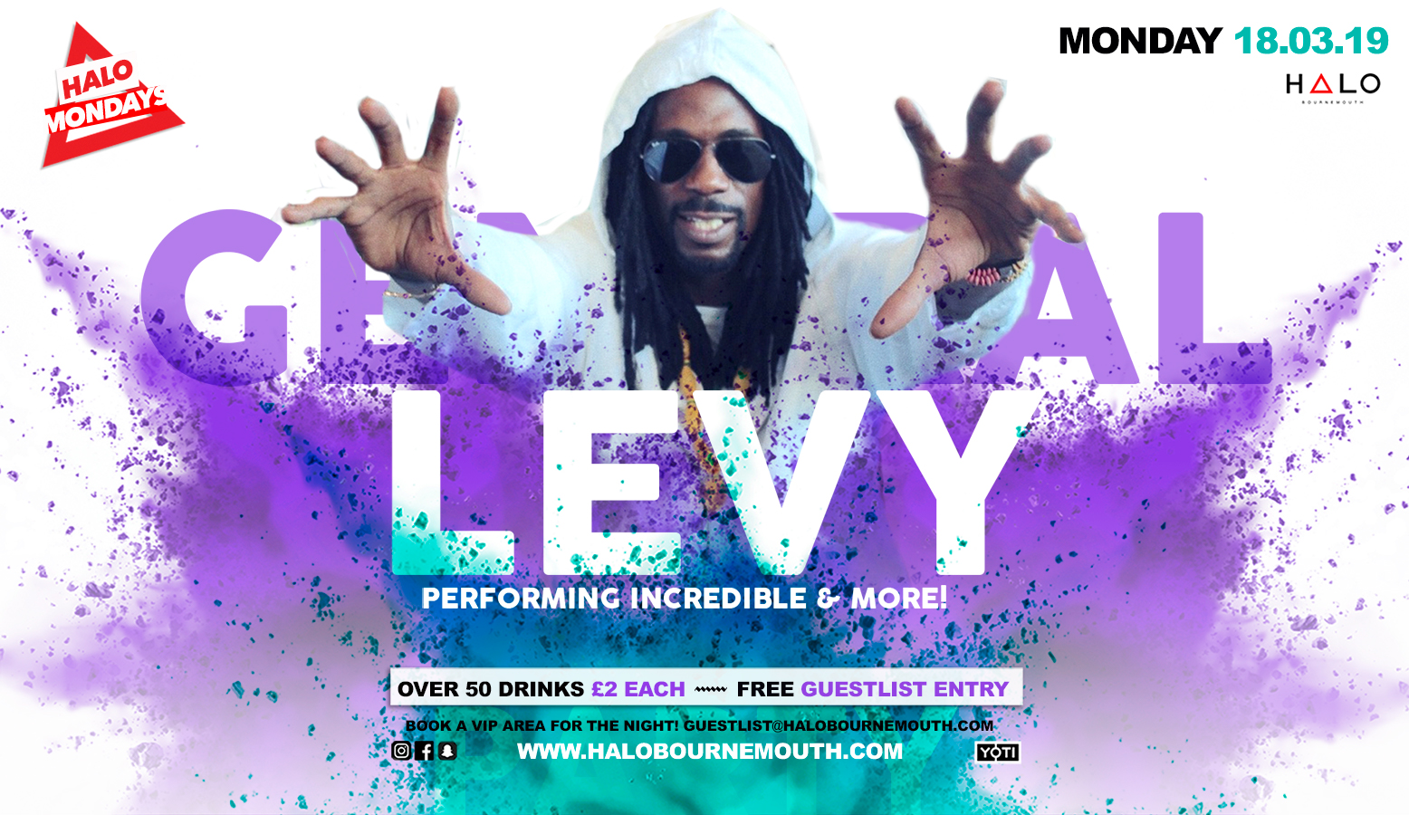 General Levy 18.02.19 Halo Bournemouth
