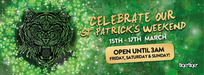 St. Patrick's Day! (open late)