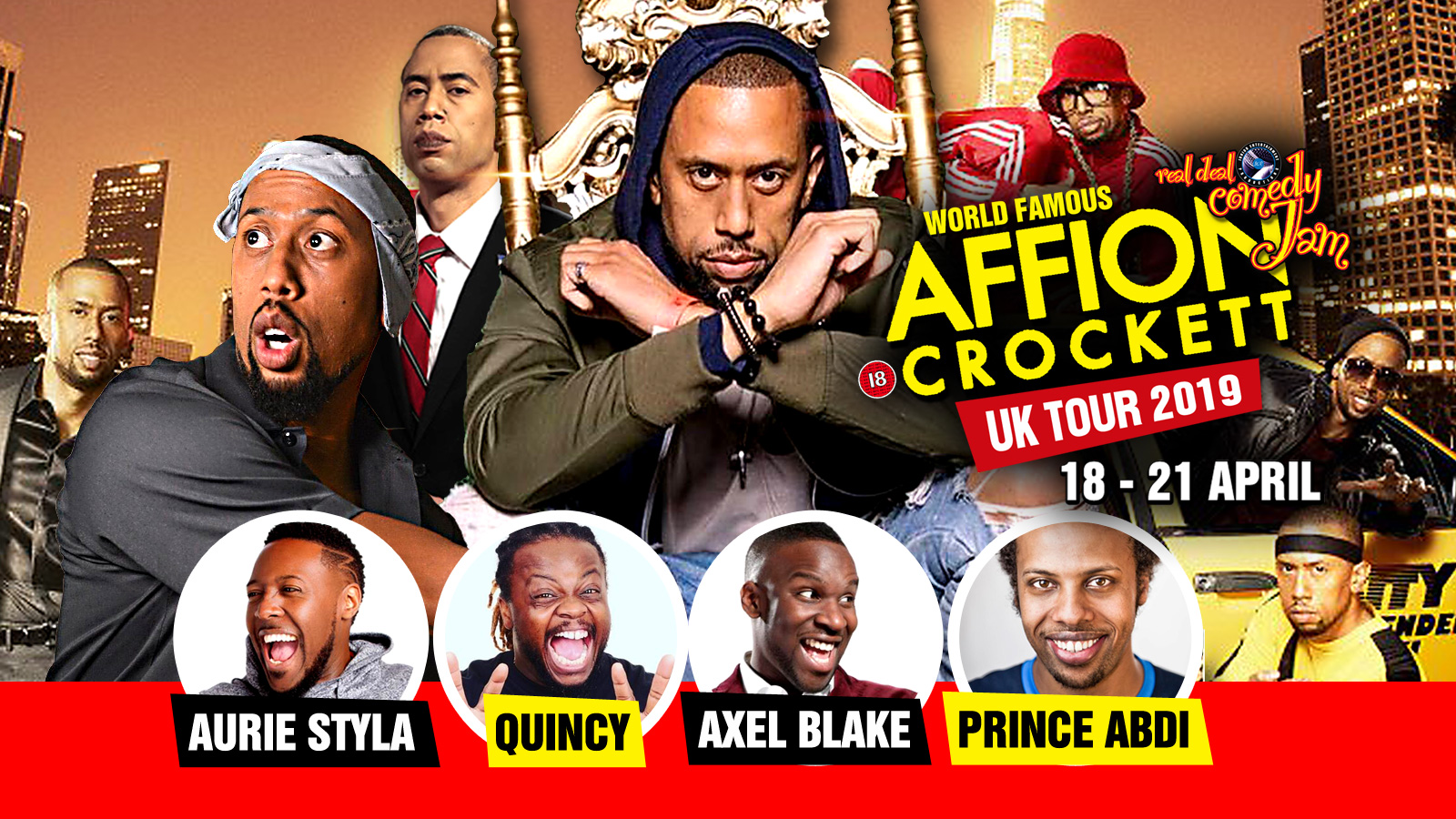 Affion Crockett Live in London – Real Deal Comedy Jam Tour