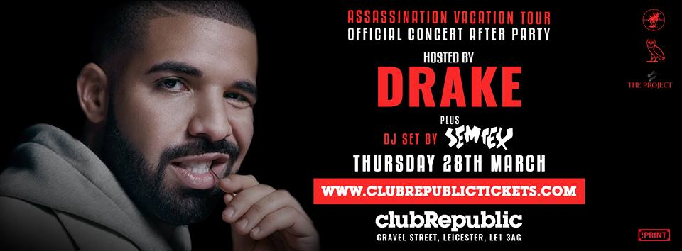 Drake Hosts Official Concert After Party at Club Republic – Tickets on Sale Now