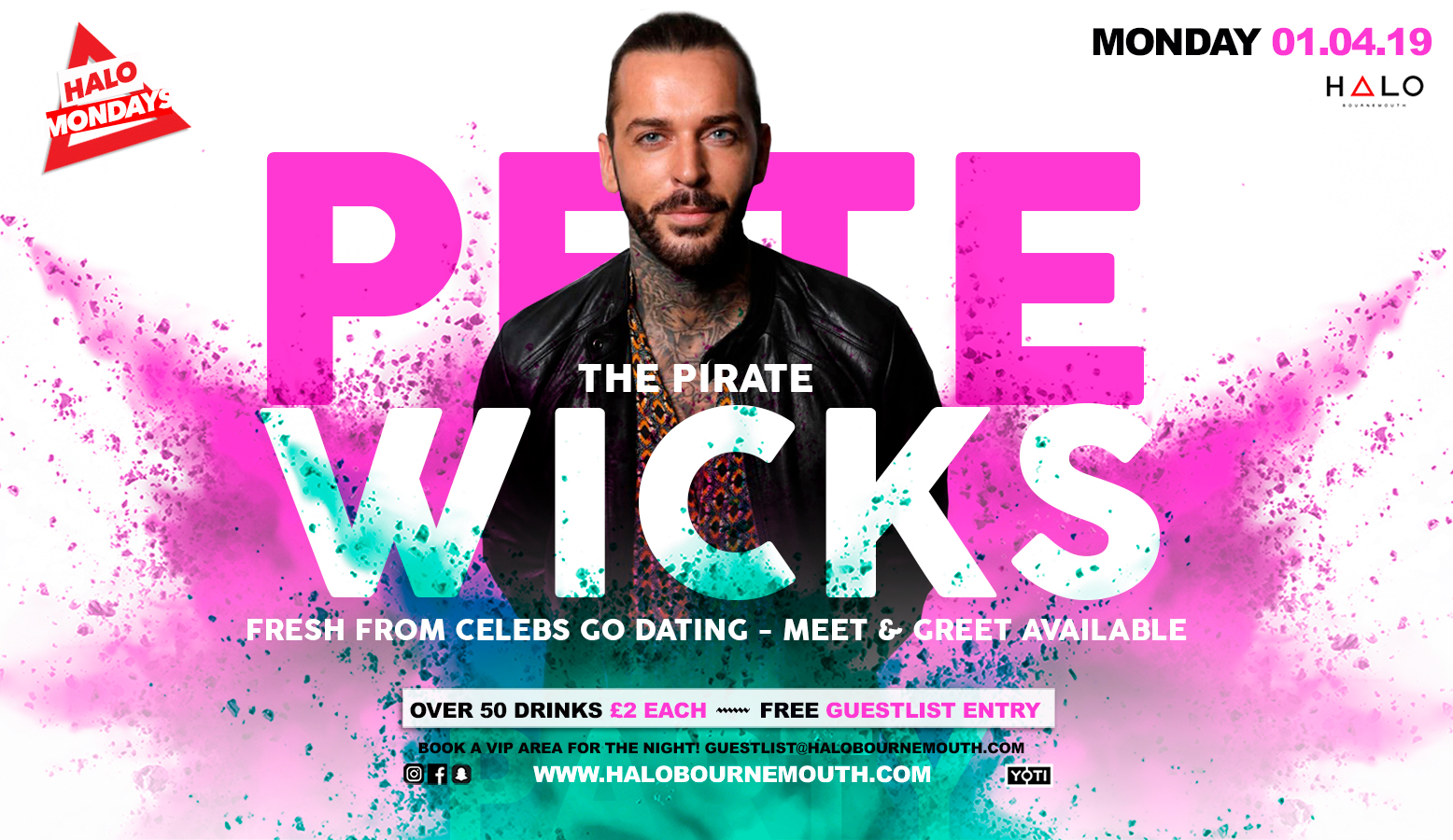 Halo Mondays w/ Pete Wicks 01.04.19 Halo Bournemouth