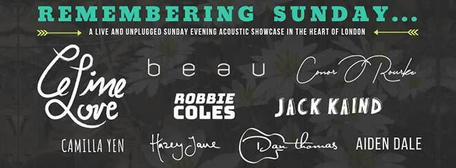 Remembering Sunday // Acoustic Showcase