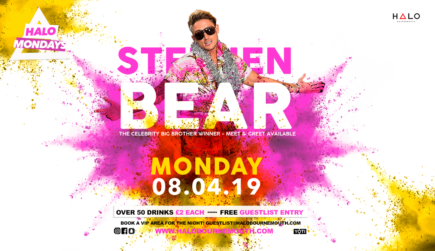 Halo Mondays w/ Stephen Bear 08.04.19 Halo Bournemouth