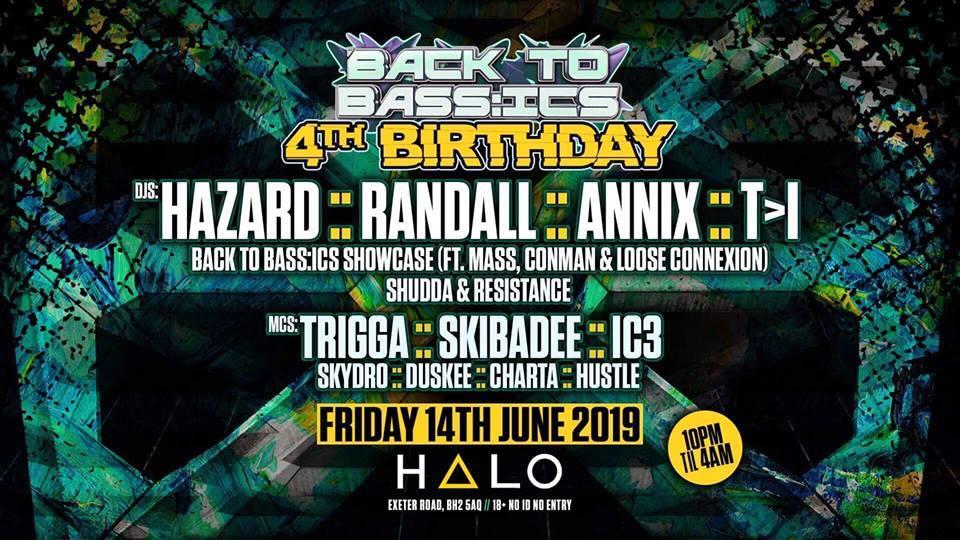 Back To Bass:ics 4th Birthday