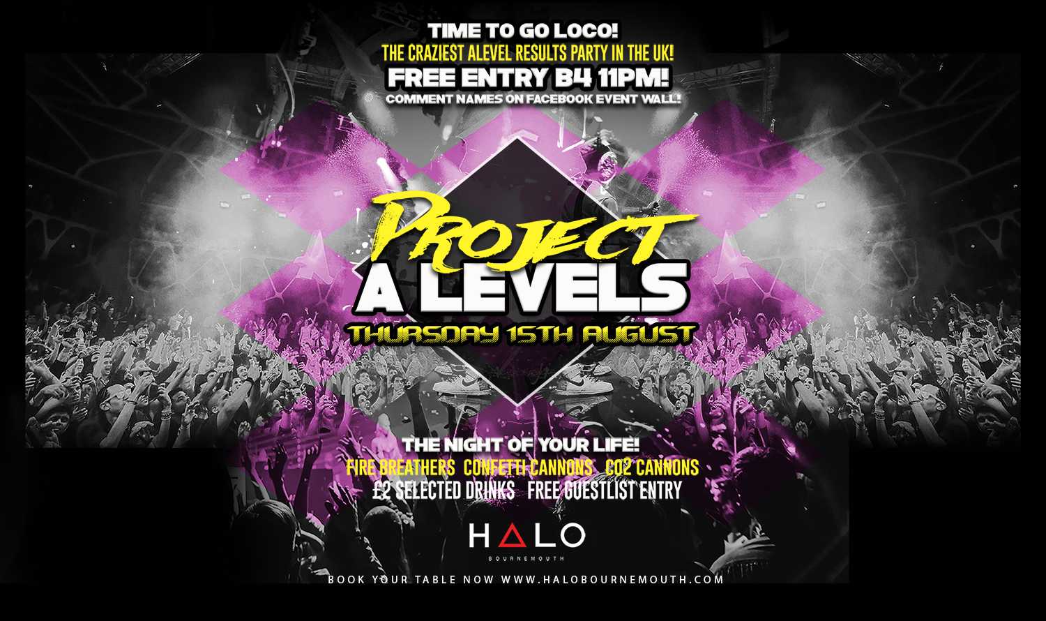 Project A-Levels  15.08.19 Halo Bournemouth