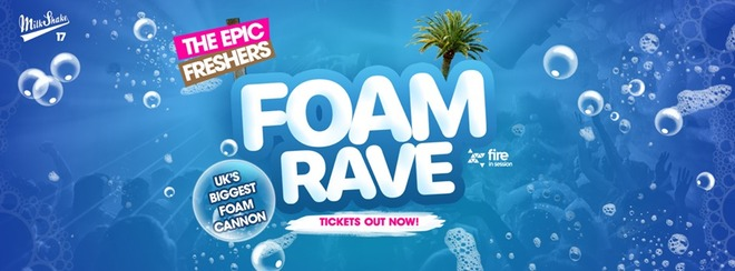The Epic Freshers Foam Rave 2019 | Live at Fire, Vauxhall London