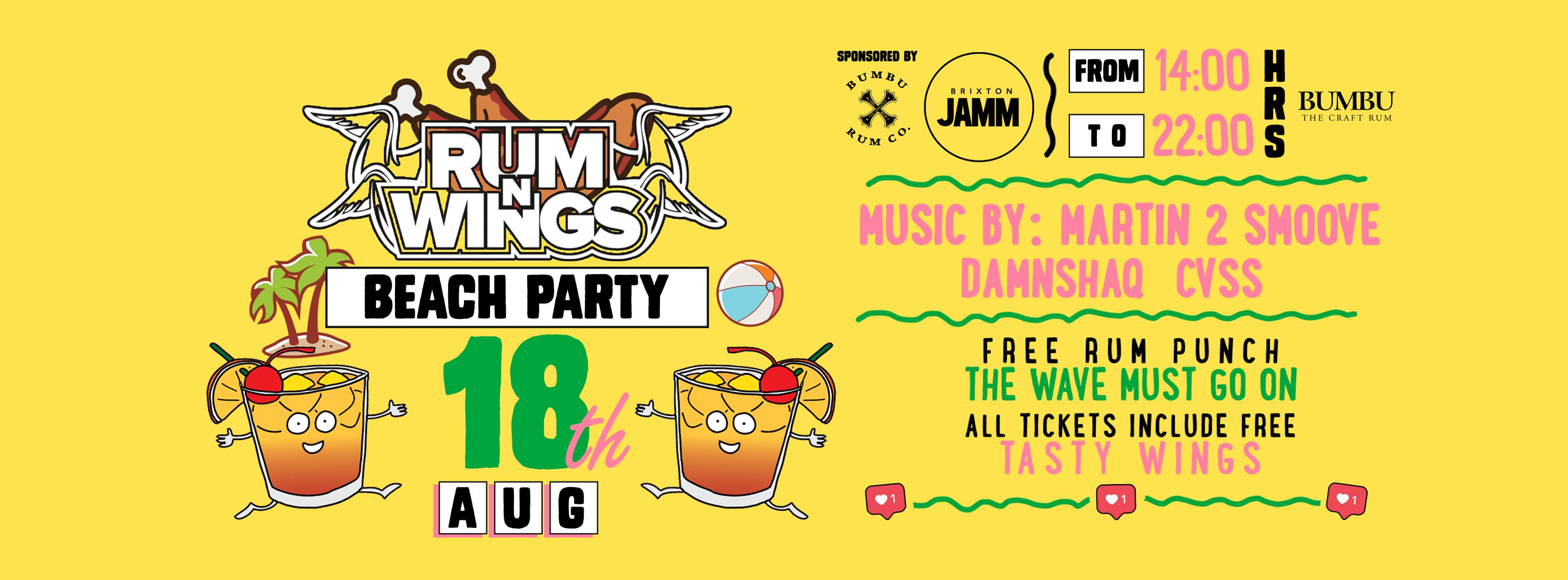 Rum & Wings – All Day Chicken & Rum Party!