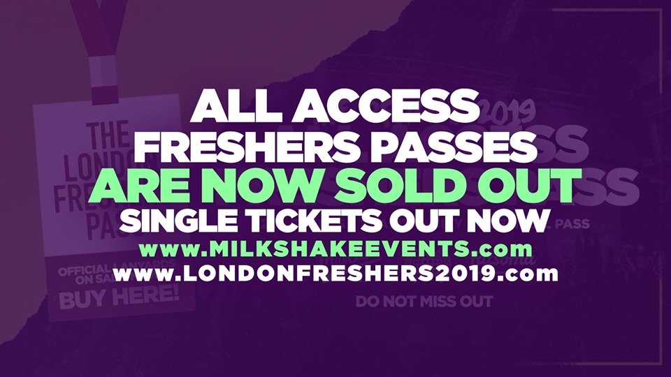 ?SOLD OUT ?THE OFFICIAL 2019 ALL ACCESS FRESHERS PASS | SOLD OUT! NO MORE ON SALE!