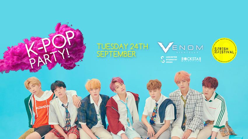 K-Pop Party! Venom Nightclub. Tuesday 24th September