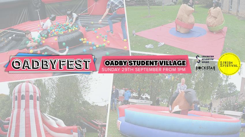 Oadbyfest! Oadby Student Village. Sunday 29th Sept from 1pm.
